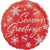 18&#39&#39 Holographic Red Seasons Greetings