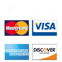 Credit Cards, Debit Cards, PayPal