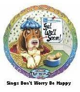 "28"" Get Well ""Don&#39t Worry Be Happy"" Sing-a-Tune Balloon"
