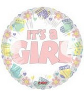 "18"" It's A Girl Baby Balloon"