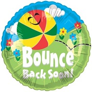 "18"" Bounce Back Soon Mylar Balloon"