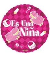 "18"" Es Una Nina Sheep Spanish Balloon"