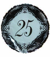 "18"" Silver 25th Wedding Anniversary"