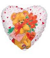 "32"" Simon Elvin I Love You Bear Mylar Balloon"