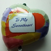 "24"" To My Sweet Heart Mylar Balloon (Damaged Print)"