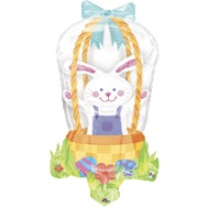 "30"" See Through Bunny In Basket"