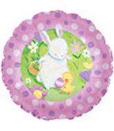 "18"" Easter Garden Bunny Balloon"