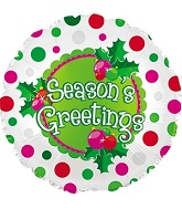 "18"" Season's Greetings Polka Dots"