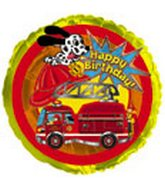 "18"" Happy Birthday Fire Truck"