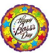 "18"" Happy Boss's Day Stars Around"