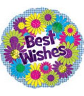 "18"" Best Wishes Flower Wreath Box 33"