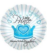 "17"" Welcome Little Prince Foil Balloon"