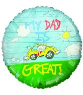 """My Dad is Great"" Father's Day Airfill-Only Balloon"