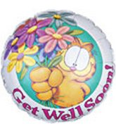 "18"" Garfield Get Well Daisies with Weight"