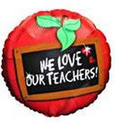 "18"" We Love our Teachers Black Board"