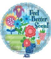 "18"" Feel Better Soon Flower Pots"