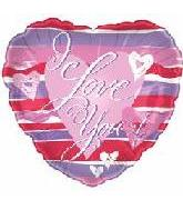 "18"" I Love You Stripes Balloon"