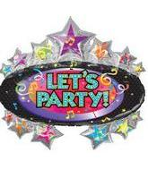 "31"" Let&#39s Party Marquee"