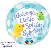 "18"" Welcome Little Splish Spash Balloon"