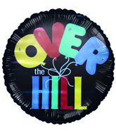 "2"" Airfill Over The Hill Ballons Black Balloon"