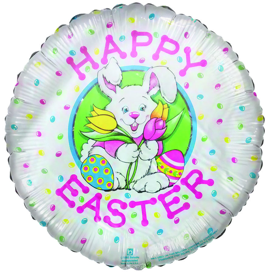 "Easter Bunny & Eggs ""Happy Easter"" Airfill-Only Balloon"