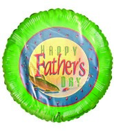 "9"" Happy Father&#39s Day Fishing Themed Airfill Balloon"