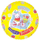 "18"" Happy Birthday Yippie Bunny"