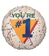 "31"" You&#39re Number One Balloon"