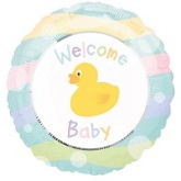 "18"" Welcome Baby Duck Mylar Balloon"