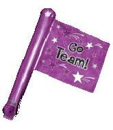 "26"" Purple Rally Flag (airfill-self sealing)"
