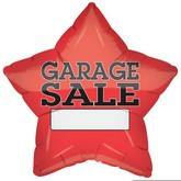 "21"" Garage Sale Red Star Balloon"