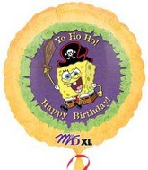 "18"" Sponge Bob Pirate Birthday Party"
