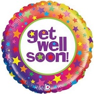 "21"" Mighty Bright Rainbow Get Well Balloon"