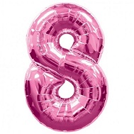 "34"" SuperShape 8 Pink Balloon Packaged"