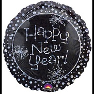 "18"" Holographic Happy New Year Sparkles Balloon"