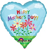 34&#39&#39 Happy Mother&#39s Day Coil Tail Mylar Balloon