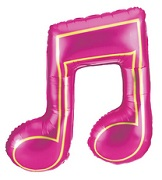 "40"" Magenta Double Music Note Balloon"