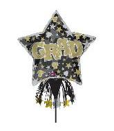 "52"" Gold & Silver Grad Inflatable Yard Sign"