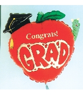 Congrats Apple Grad balloon (Damaged Print)