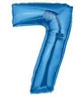 "40"" Large Number Balloon 7 Blue"