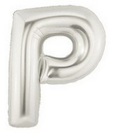 "40"" Large Letter Balloon P Silver"