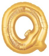 "40"" Large Letter Balloon Q Gold"