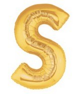 "40"" Large Letter Balloon S Gold"