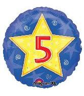 "18"" Stars & Swirls Birthday #5"