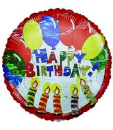 "18"" Happy Birthday Celebration Mylar Balloon (PRINT DAMAGE)"