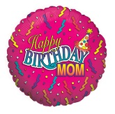 "18"" Happy Birthday Mom Balloon Pink"