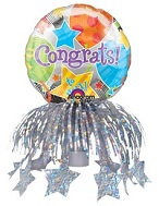 "9"" Congrats Jubilee Bottle Topper"