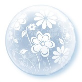 "20"" Floral Patterns All Around Plastic Balloon"