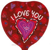 "9"" Airfill Only Love You Hearts Balloon"