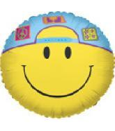 "9"" Airfill Smiley With Cap"